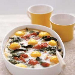 Baked Eggs With Spinach And Tomatoes recipe