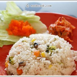 Vegetable Steamed Rice recipe