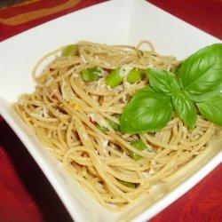 Asparagus And Basil Whole Wheat Spaghettini recipe