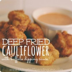 Cauliflower Dipped And Fried recipe