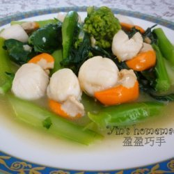 Stir Fried Scallops With Gai Lan (chinese Broccoli... recipe