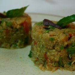 Quinoa 'couscous' With Olives And Spring Vegetable... recipe