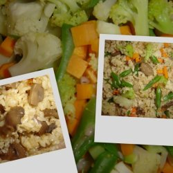 Vegetable Mushroom Fried Rice recipe