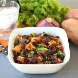 Quinoa Salad With Roasted Sweet Potatoes, Kale, Dr... recipe
