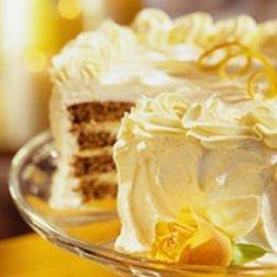 Pecan Cake With Tangerine Cream Filling recipe