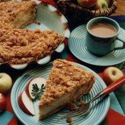 Crunchy Apple Custard Pie recipe