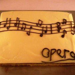 White Chocolate Opera Cake recipe