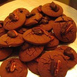 Gooey Chocolate Pecan Cookies recipe