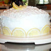 Lemon Cake With Cream Cheese Filling recipe