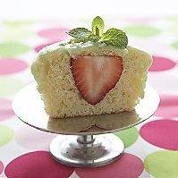Strawberry Stuffed Lime Cupcakes recipe