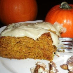 Pumpkin Spice Cake With Maple Buttercream Frosting recipe