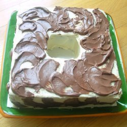 Chocolate Cake With Double Cheese Cream Frosting recipe