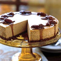 Pumpkin Cheesecake With Maple-bourbon Sauce recipe