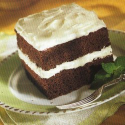 Chocolate Mint Layer Cake With Mint Cream Cheese F... recipe