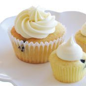 Blueberry Cheesecake Cupcakes With Cream Cheese Sw... recipe