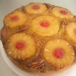 Upside Down Pinneapple Cake With Warm Caramel Sauc... recipe