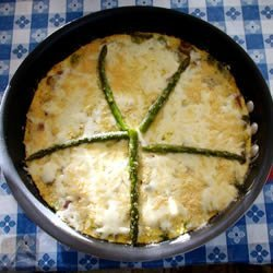 Asparagus and Mushroom Frittata recipe