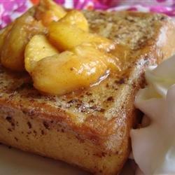 Mascarpone Stuffed French Toast with Peaches recipe