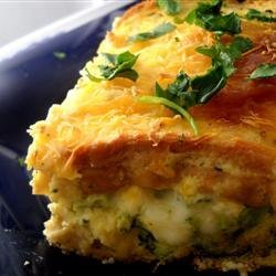 Broccoli Blue Cheese Strata recipe