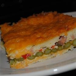 Cheddar-Bacon-Asparagus Strata recipe