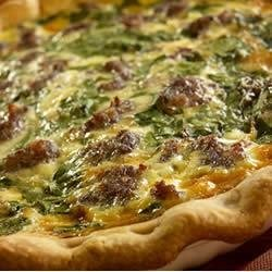 Breakfast Sausage Spinach Pie recipe