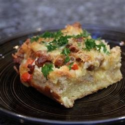 Sunday Vegetarian Strata recipe