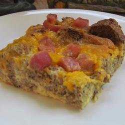 Overnight Ham and Cheese Omelet recipe