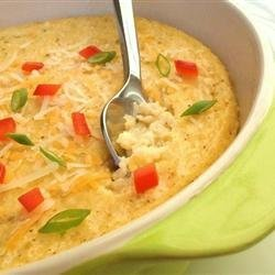 Green Chile and Egg Grits recipe