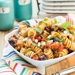 Lemon Pasta Salad with Tomatoes and Feta recipe