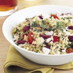 Orzo, Feta, and Tomato Salad with Marjoram Vinaigrette recipe
