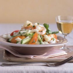 Shrimp, Jícama, and Apricot Salad recipe