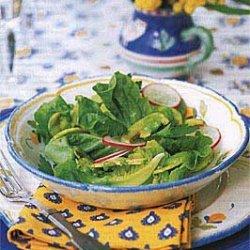 Mushroom, Radish, and Bibb Lettuce Salad with Avocado Dressing recipe