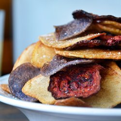 Red, White, and Blue Potato and Beet Chips recipe