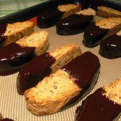 Maple Walnut Biscotti With Chocolate Maple Glaze recipe