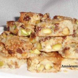 Pistachio Nut Bars recipe
