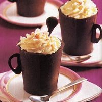 Chocolate Teacups Filled With Chocolate Mint Mouss... recipe
