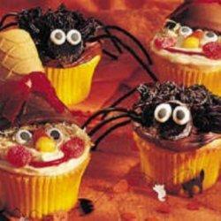 Scarecrow And Spider Cupcakes recipe