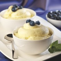 Lemon Creme With Blueberries From Comstock Wildern... recipe