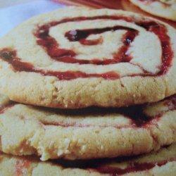 Peanut Butter  Raspberry Pinwheels recipe