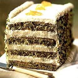 Pistachio Layer Cake With Nougat Cream recipe