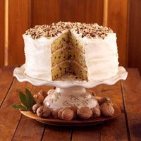 Hickory Nut And Coconut Cake With Cream Cheese Fro... recipe