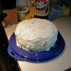 Cake With Whipped Cream And Fruit Icing recipe