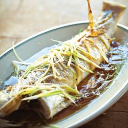 Steamed Whole Fish with Ginger, Scallions, and Soy recipe