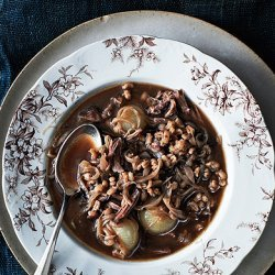 Oxtail Soup with Onions and Barley recipe