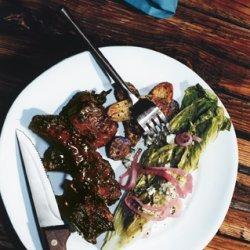 Mixed Grill with Sweet and Spicy Bourbon Sauce recipe