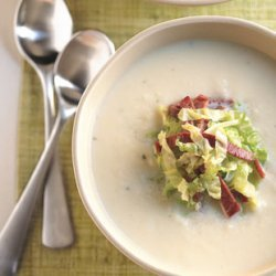 Parsnip Soup with Corned Beef and Cabbage recipe