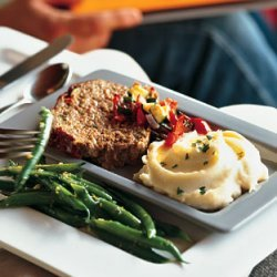 Roasted Vegetable Meatloaf with Mustard Mashed Potatoes recipe