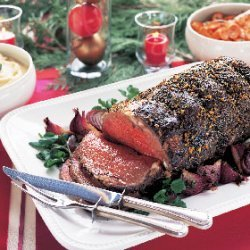 Black Pepper-Crusted Standing Rib Roast au Jus recipe