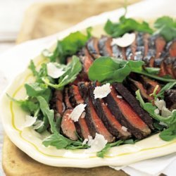 Porterhouse Steaks with Arugula and Parmesan Cheese recipe