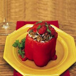 Stuffed Red Bell Peppers recipe